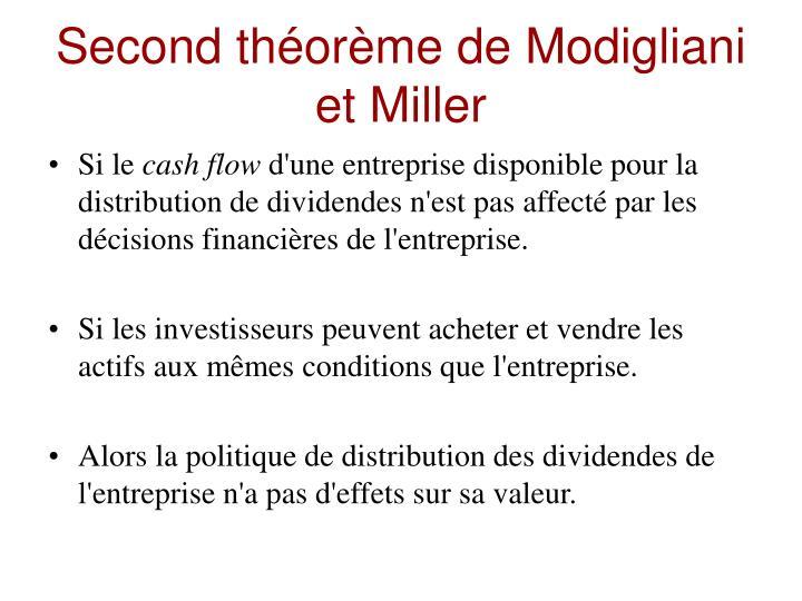Second théorème de Modigliani et Miller