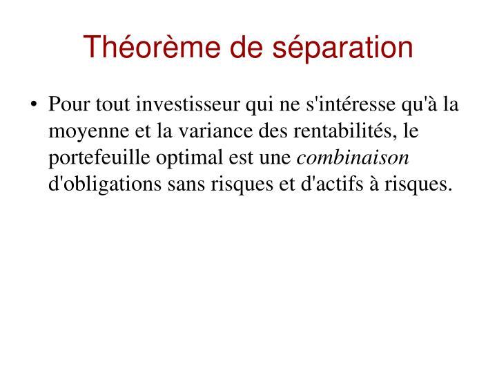 Théorème de séparation