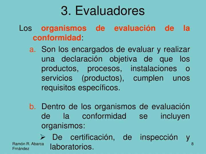 3. Evaluadores