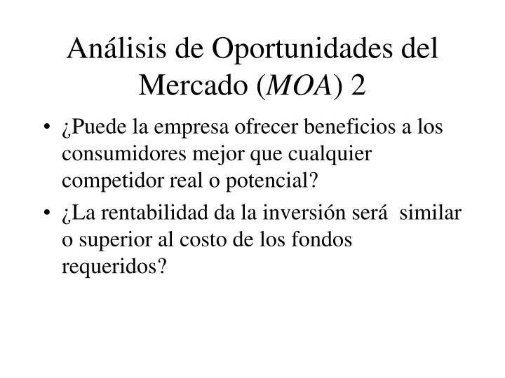 Análisis de Oportunidades del Mercado (