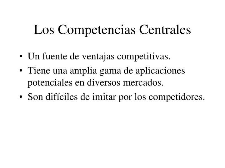 Los Competencias Centrales