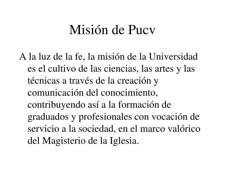 Misión de Pucv