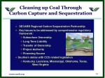 cleaning up coal through carbon capture and sequestration