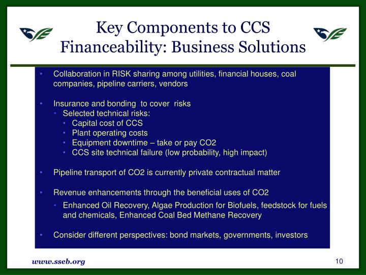 Key Components to CCS