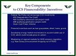 key components to ccs financeability incentives
