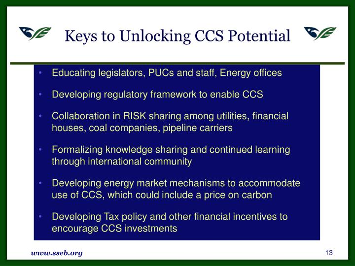 Keys to Unlocking CCS Potential