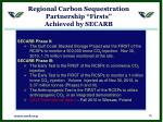 regional carbon sequestration partnership firsts achieved by secarb