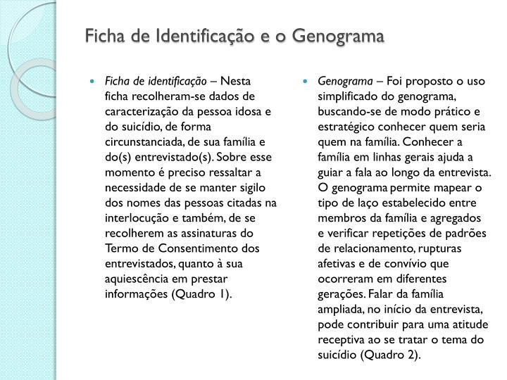Ficha de Identificação e o