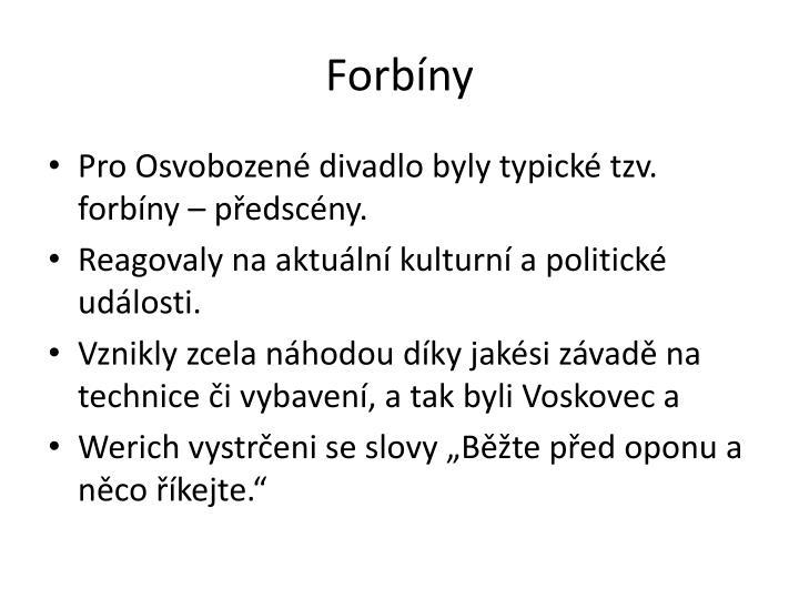 Forbíny