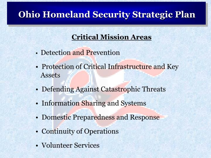Ohio Homeland Security Strategic Plan