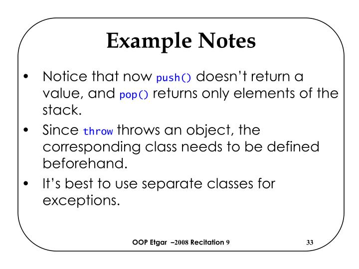 Example Notes
