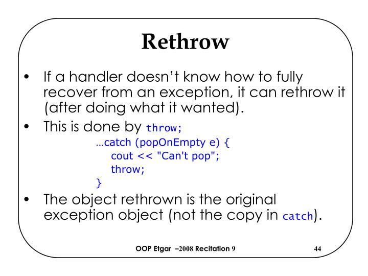 Rethrow