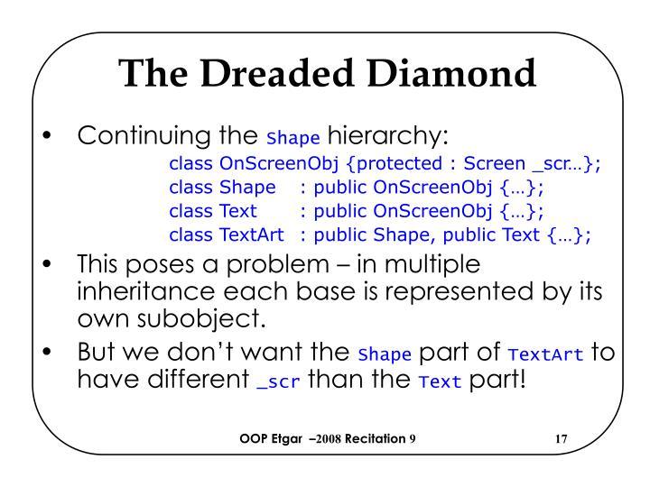 The Dreaded Diamond