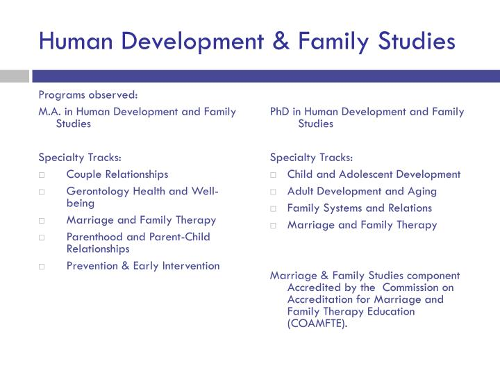 Human Development & Family Studies