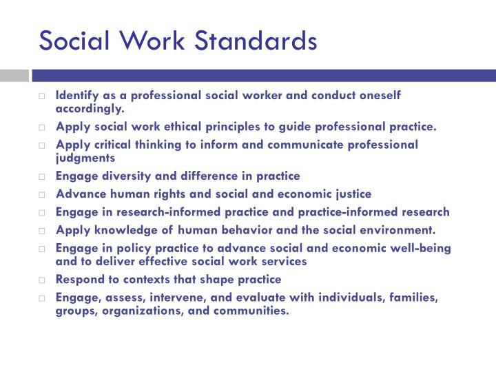 Social Work Standards