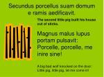 secundus porcellus suam domum e ramis aedificavit