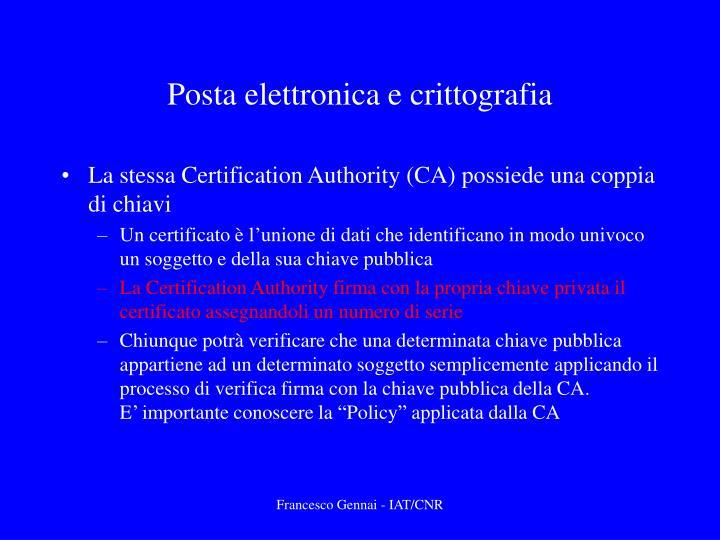Posta elettronica e crittografia