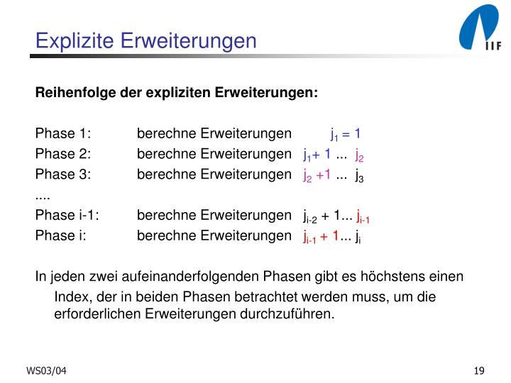 Explizite Erweiterungen