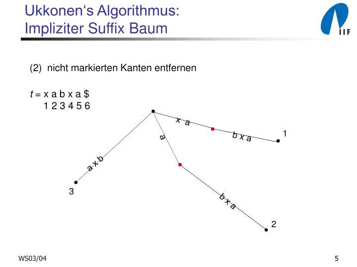 Ukkonen's Algorithmus: