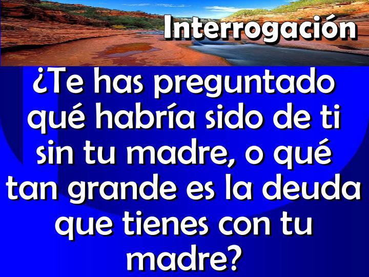 Interrogacin