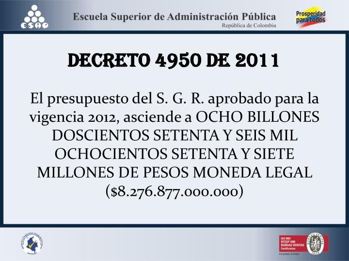 DECRETO 4950 DE 2011