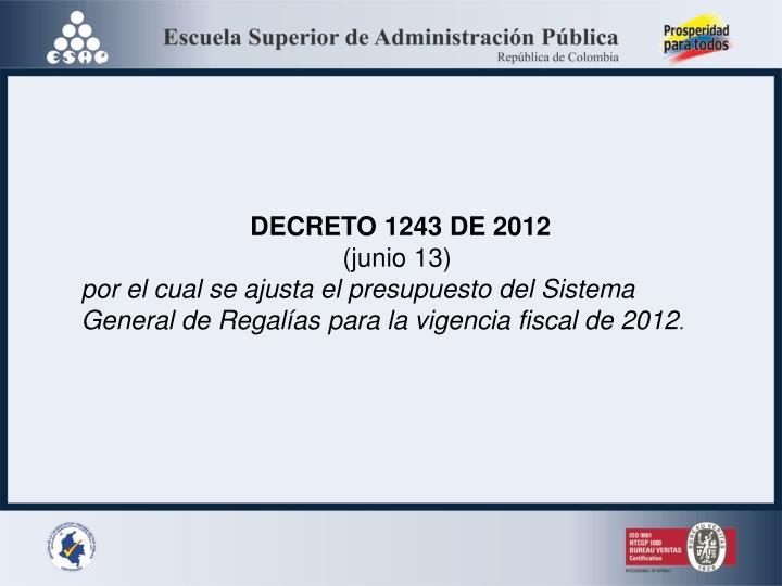 DECRETO 1243 DE 2012