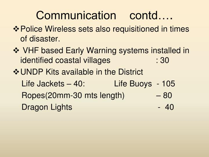 Communication    contd…