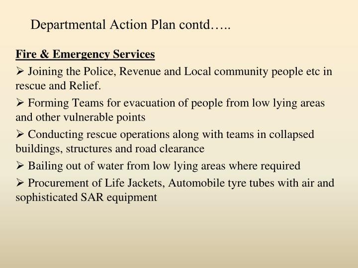Departmental Action Plan contd…..