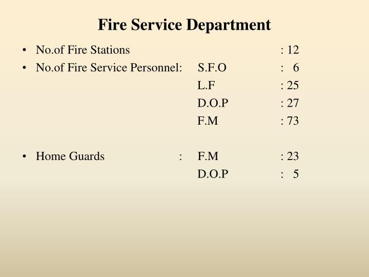 Fire Service Department
