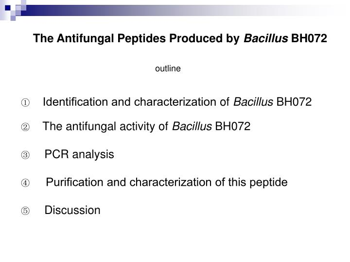 The Antifungal Peptides Produced by