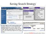 saving search strategy