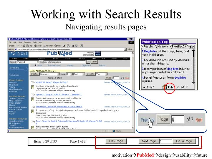 Working with Search Results