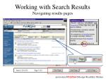 working with search results navigating results pages