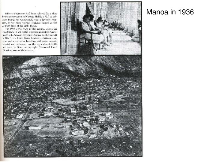 Manoa in 1936