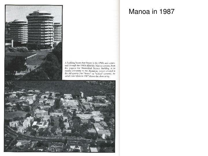Manoa in 1987