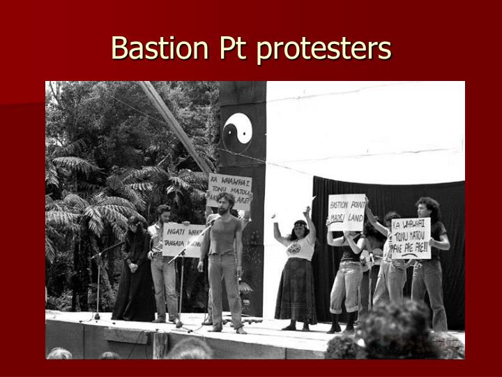 Bastion Pt protesters