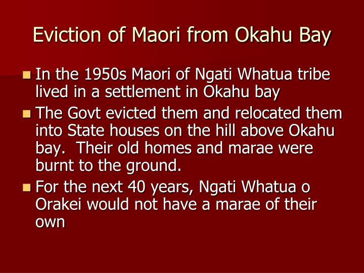 Eviction of Maori from Okahu Bay
