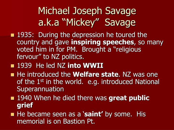 Michael Joseph Savage