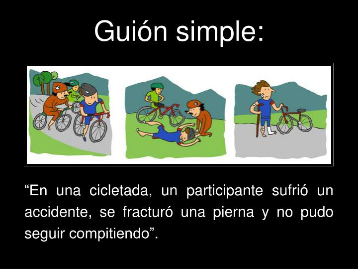 Guión simple: