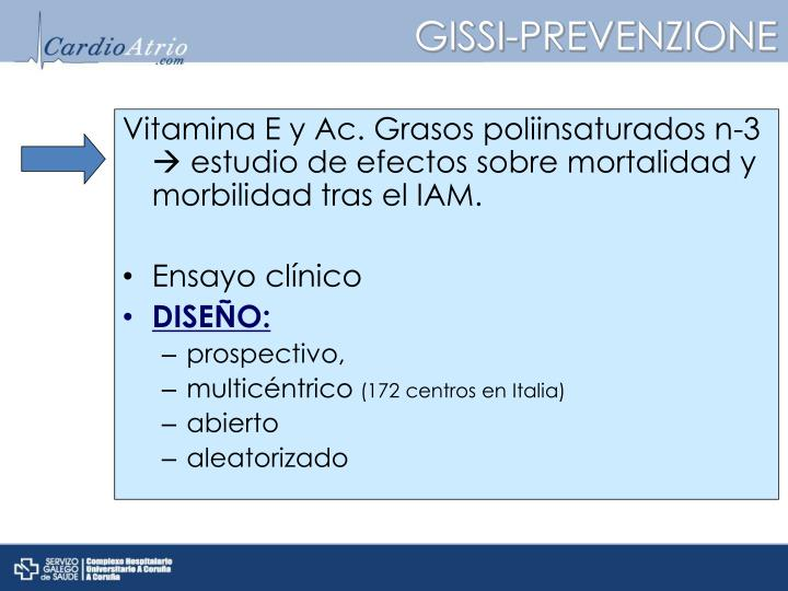Vitamina E y Ac. Grasos poliinsaturados n-3