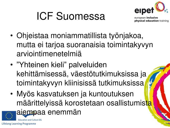 ICF Suomessa