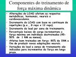 componentes do treinamento de for a m xima din mica