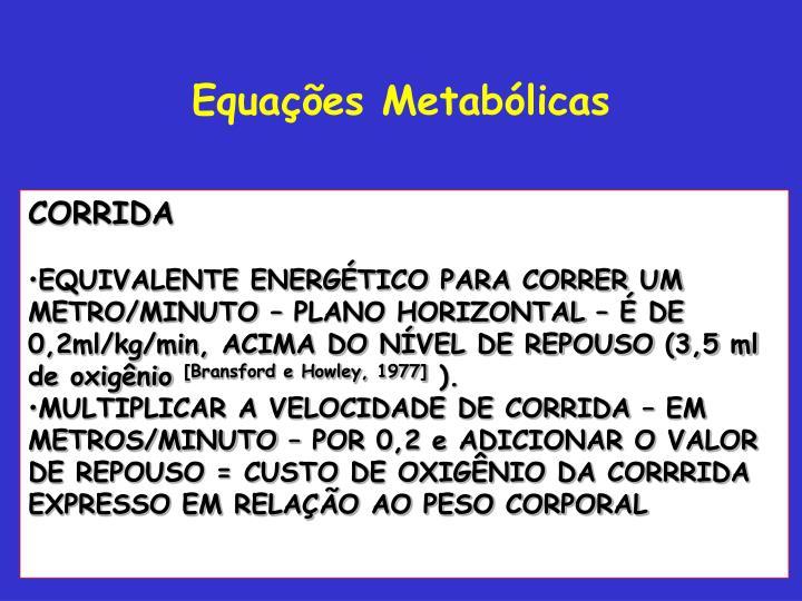 Equações Metabólicas