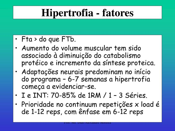 Hipertrofia - fatores