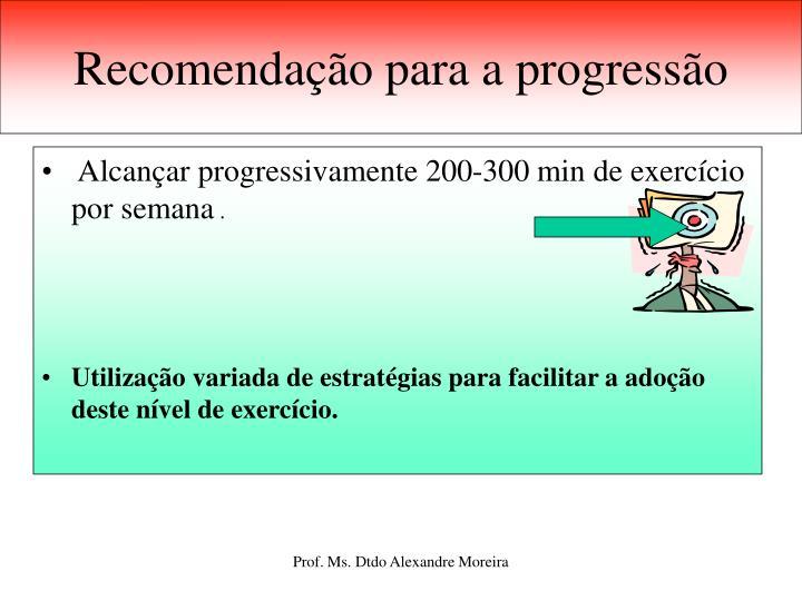Recomendação para a progressão