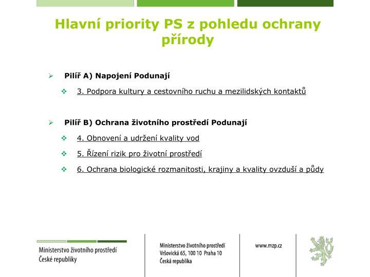 Hlavní priority PS z pohledu ochrany přírody