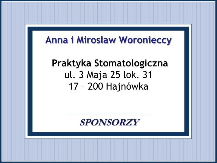 Anna i Mirosław Woronieccy