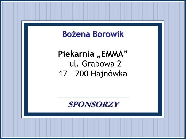Bożena Borowik