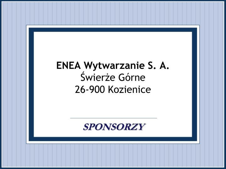 ENEA Wytwarzanie S. A.