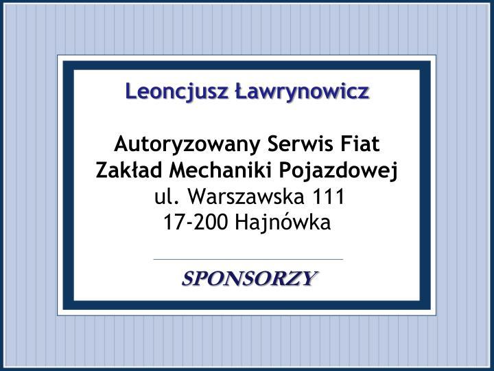 Leoncjusz Ławrynowicz